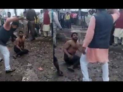 बीच सड़क पर कपड़े उतरवा डंडे से की पिटाई, आम आदमी पार्टी के नेता की 'हैवानियत' वायरल
