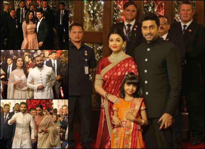 ईशा अंबानी की शादी में लगा फिल्मी सितारों का जमावड़ा, श्री देवी की बेटियों पर टिकी सबकी निगाहें
