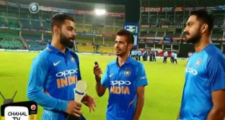 चहल टीवी में विजय शंकर से पूछा गया ऐसा सवाल, कप्तान विराट कोहली भी शरमा गये, वीडियो