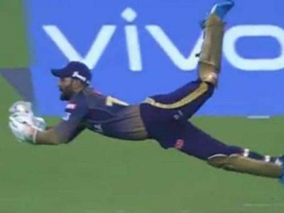 हवा में छलांग लगाते हुए दिनेश कार्तिक ने पकड़ा हैरतअंगेज कैच, बल्लेबाज भी रह गया हैरान, वीडियो