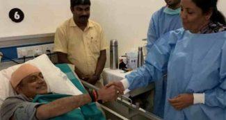 घायल थरूर से सुबह निर्मला सीतारमण ने अस्पताल जाकर पूछा हाल, कांग्रेस सांसद ने कह दी बड़ी बात