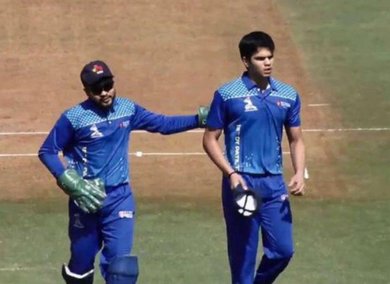 मुंबई टी-20 लीग के सबसे महंगे खिलाड़ी अर्जुन तेंदुलकर ने किया कमाल, हो रही तारीफ