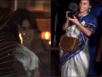 कैमरे के सामने खुली विदेशी महिला की साड़ी तो तुरंत संभालने पहुंची प्रियंका चोपड़ा, वीडियो देखें