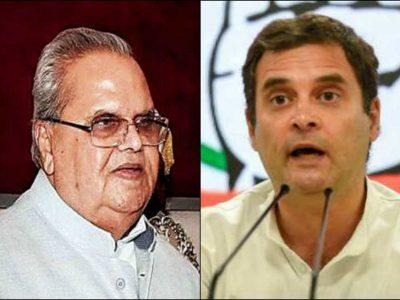 कश्मीर के हालात पर सवाल उठा बुरे फंसे राहुल गांधी, राज्यपाल ने दिया ऐसा ऑफर