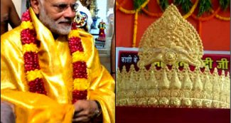 प्रधानमंत्री के जन्मदिन का बनारस में एक भक्त ने मनाया ऐसा जश्न, चढ़ा दिया सवा किलो सोने का मुकुट