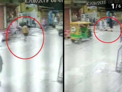 CCTV में कैद हो गई मौत, युवक बात करते-करते अचानक गिर पड़ा, वीडियो