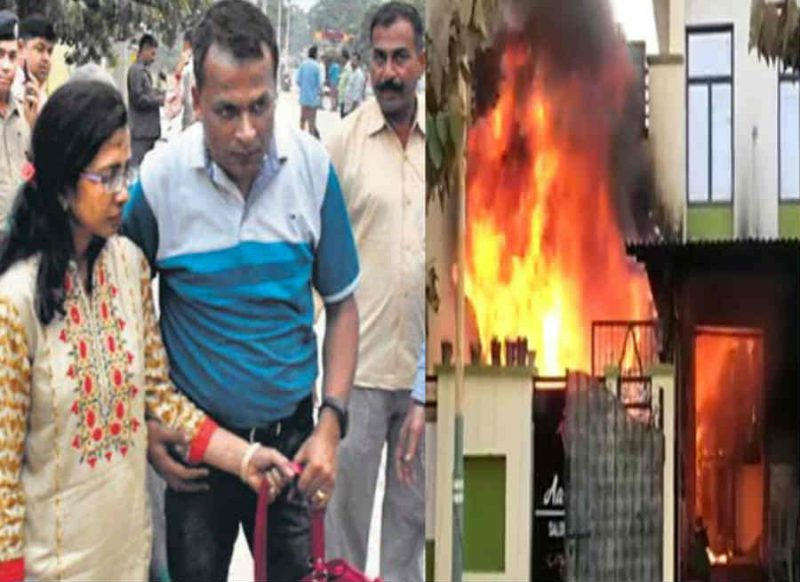 डॉ पत्नी का 'अग्निकांड', महिला को 6 साल के मासूम के साथ जलाया, पति को फोन कर ये कहा
