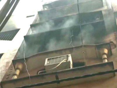 43 लोगों की जान लेने के बाद भी ठंडी नहीं पड़ी आग, 24 घंटे बाद बिल्डिंग के ऐसे हैं हालात