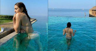 समुद्र में चिल करती नजर आईं सारा अली खान, बिकिनी लुक ने फैंस को किया पागल