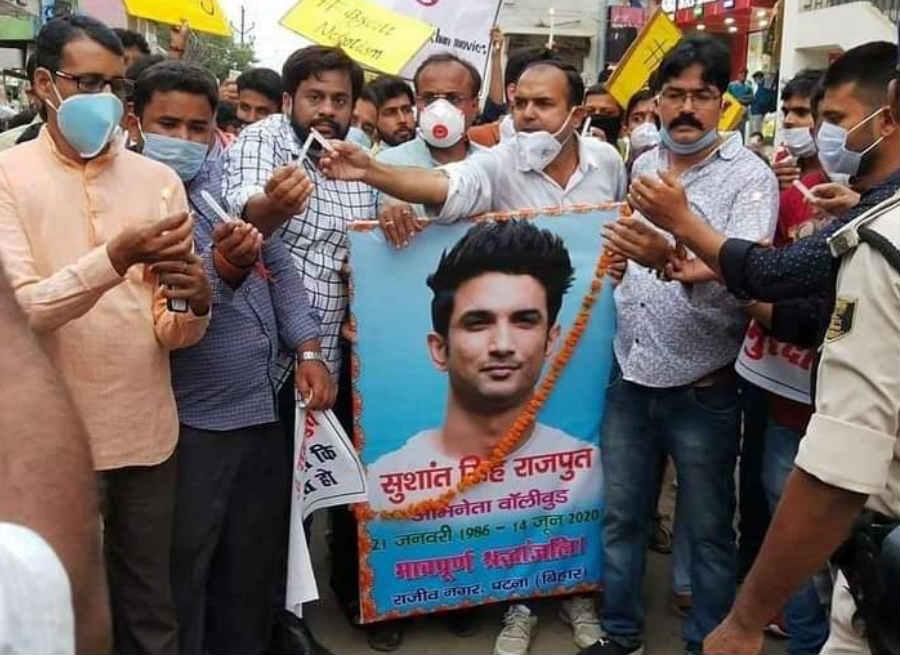 sushant protest 1