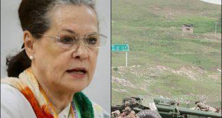 सोनिया गांधी जवाब दे कि भारत का 43 हजार 180 वर्ग मील भूभाग चीन ने किसकी सरकार में हड़पा