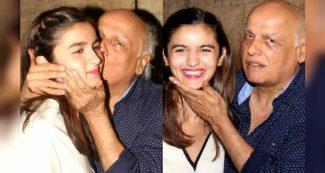 बड़ी बेटी पूजा की तरह छोटी आलिया भट्ट को भी पिता महेश भट्ट ने किया किस, इंटरनेट तोड़ रही तस्वीर