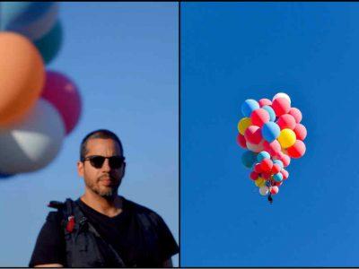 सिर्फ गुब्बारों के जरिए 25,000 फीट की ऊंचाई पर उड़ा ये शख्स, यूट्यूब पर टूट गए सारे रिकॉर्ड