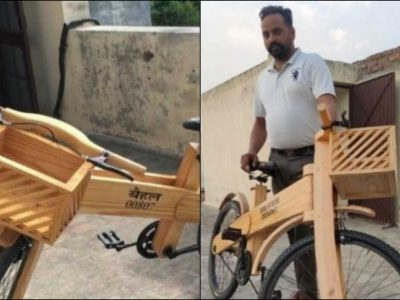 लॉकडाउन में काम छीना, तो हाथ से लकड़ी का साइकिल बनाने लगा, विदेशों से आ रहे ऑर्डर