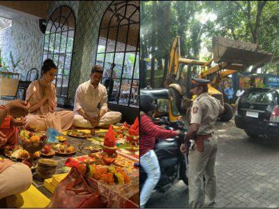कंगना का दफ्तर तोड़ रही है BMC, एक्ट्रेस का ट्वीट- 'याद रख बाबर ये मंदिर फिर बनेगा, जय श्री राम'