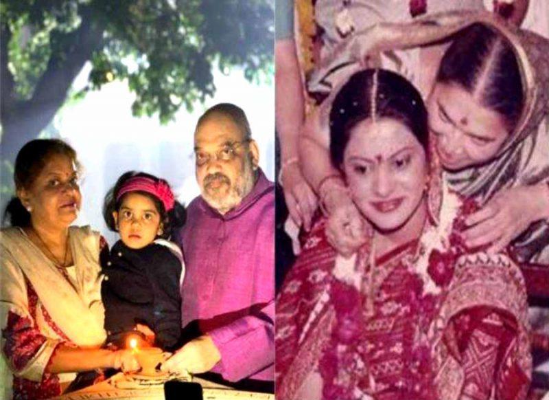 बहुत कम दिखती हैं अमित शाह की पत्नी, दिवाली पर जलाए जवानों के लिए दिए, शादी के वक्त ऐसी दिखती थीं