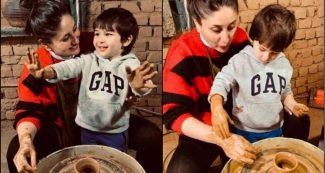 तैमूर के साथ पॉटरी करती नजर आईं करीना कपूर खान, लाल-काली स्वेटर की कीमत पर हो रही चर्चा