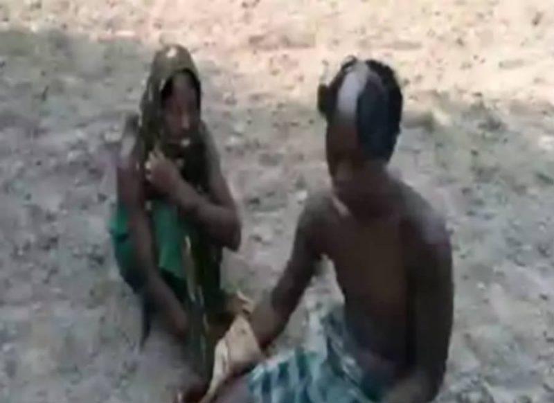 बिहार को शर्मसार करने वाली तस्वीर, अवैध संबंध के शक में तथाकथित ठेकेदारों की करतूत!