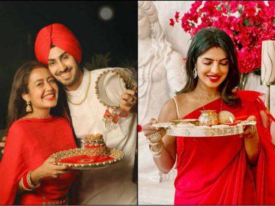 नेहा कक्कड़ ने यूं मनाया पहला करवा चौथ, तो वहीं रेड साड़ी में प्रियंका चोपड़ा ने ढाया कहर