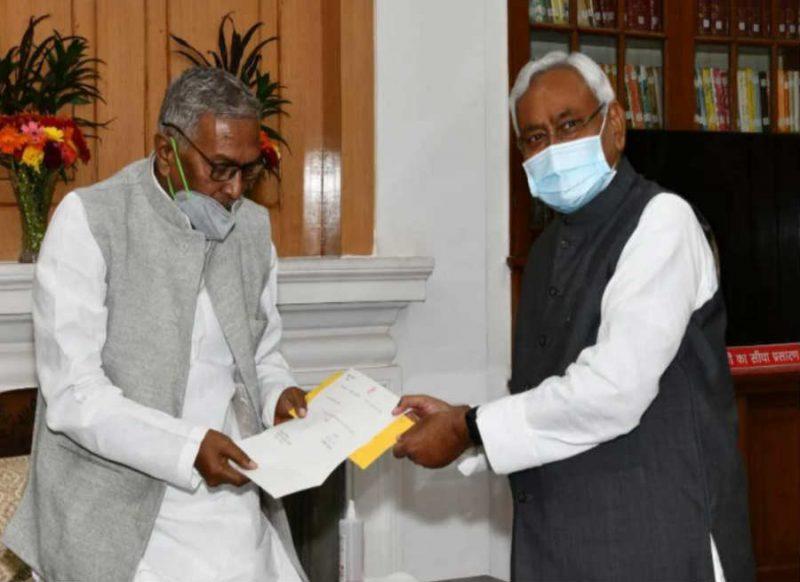 नीतीश कुमार ने दिया इस्तीफा,  अगले सीएम के नाम पर जल्द लग सकती है मुहर