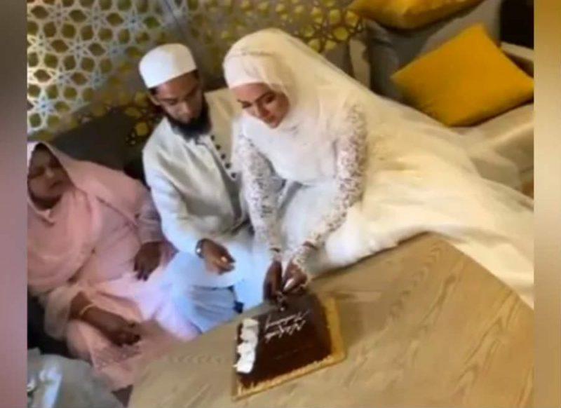 मजहब के लिये फिल्म इंडस्ट्री छोड़ने वाली सना खान ने मौलाना से की शादी, वीडियो हो रहा वायरल