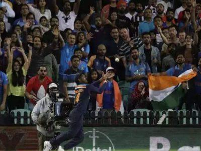 वीडियो- सुपरमैन बनें संजू सैमसन, हवा में उड़ते हुए…