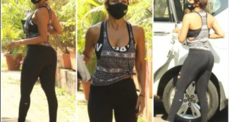 मुंबई की सड़कों पर ऐसी ड्रेस में नजर आई मलाइका अरोड़ा, फिगर देखते रह गये लोग!