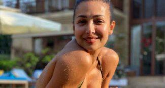 पानी में लगा दी आग जब बिकिनी पहन स्विमिंग पूल में उतरीं मलाइका अरोड़ा, दिखाया योगा पोज