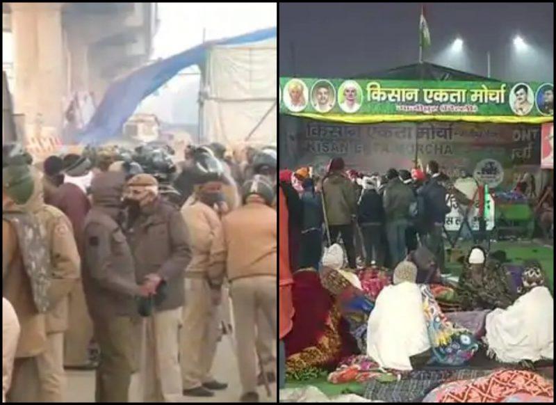 किन वजहों से बैकफुट पर आया पुलिस-प्रशासन? जानिए, गाजीपुर बॉर्डर पर कैसे रातभर बदलता गया माहौल