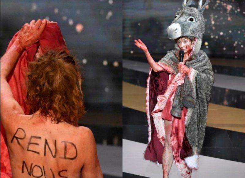 मंच पर दिए जा रहे थे अवॉर्ड, तभी अभिनेत्री ने उतार दिए अपने सारे कपड़े, वीडियो आया सामने