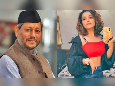 फटी जींस में इस एक्ट्रेस को बता रहे थे CM तीरथ सिंह रावत की बेटी, अब उसका सच आया सामने