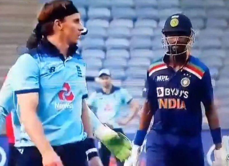 अंग्रेज गेंदबाज से भिड़ गये क्रुणाल पंड्या, अंपायर को करना पड़ा बीच-बचाव, वीडियो
