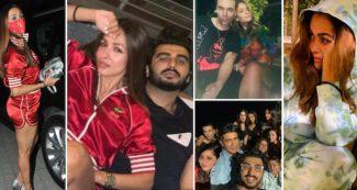 मलाइका अरोड़ा के साथ रोमाटिंक हुए अर्जुन कपूर, सामने आईं पार्टी की INSIDE तस्वीरें