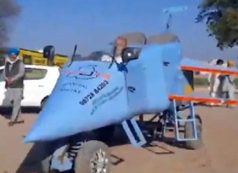 कमाल का जुगाड़: भारतीय शख्स ने बना दिया सड़क पर दौड़ने वाला प्लेन, राफेल विमान जैसा दिखता है