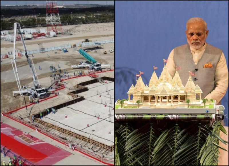 900 करोड़ की लागत से बन रहा इस मुस्लिम देश में पहला भव्य मंदिर, भारत से मंगाए गए पत्थर