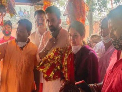 जहीर खान ने राजारप्पा मंदिर में की पूजा, पत्नी सागरिका घाटगे भी थीं साथ, लाल चुनरी में दिखीं