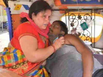अस्पताल में नहीं मिला ऑक्सीजन तो पति को मुंह से सांस देती रही पत्नी, नहीं बचा सकी जान!