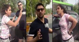 वीडियो-  पुलिस ने बिना मास्क घूम रहे कपल को रोका, लड़की बोली मैं तो अभी किस कर लूंगी