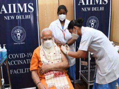 PM मोदी ने ली कोरोना वैक्सीन की दूसरी डोज, कहा- टीके से हराएंगे वायरस को
