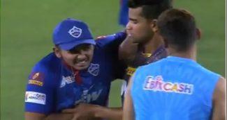 पृथ्वी शॉ ने शिवम मावी के ओवर में लगाये 6 चौके, वीडियो में देखिये गेंदबाज का 'बदला'