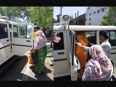 सड़क किनारे प्रसव पीड़ा से तड़प रही थी महिला, पुलिस ने पेश की मिसाल, हो रही तारीफ
