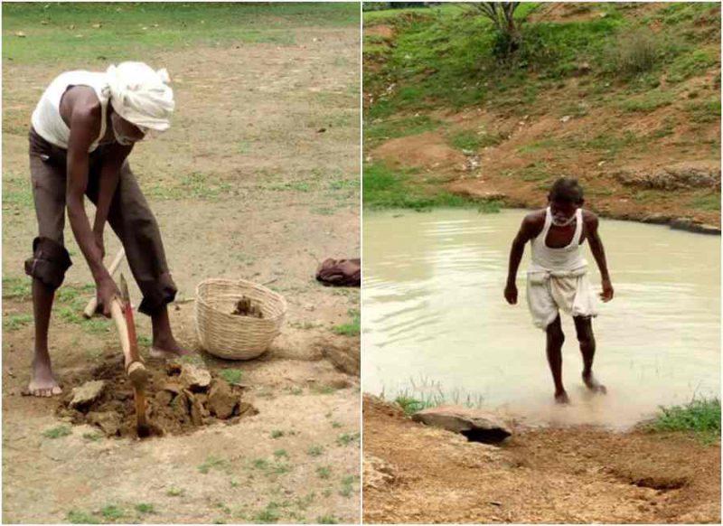 गांव में हुई पानी की कमी तो अकेले खोद डाला तालाब, ऐसी है धनबाद के वॉटर मैन की कहानी