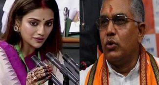नुसरत जहां पर बंगाल बीजेपी अध्यक्ष का विवादित बयान, ममता बनर्जी पर भी निशाना