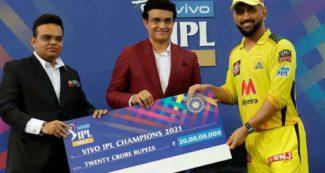IPL 2021 चैम्पियन CSK को मिले 20 करोड़ रुपये, तो वहीं फाइनल में हारी KKR को मिली इतनी रकम
